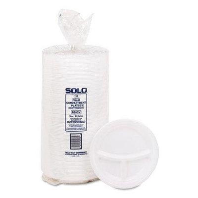 Solo Cup Company 9CPWQRPK Mediumweight Foam Plates, 9 Dia, White, 125/pack