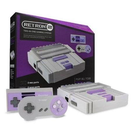 Hyperkin SNES/NES RetroN 2 Gaming Console (Gray)