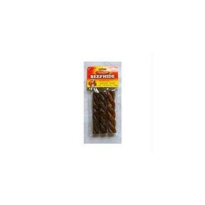 Salix Llc - Premium Beefhide Crunchy Spirals- Beef 5 Inch-3 Pack