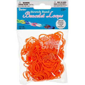 Darice Inc Darice RB1-1009 Mini Rubber Bands 300-Pkg with 12 Clips-Orange