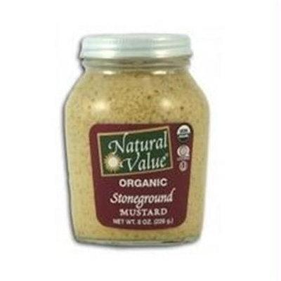 Natural Value B18863 Natural Value Organic Stoneground Mustard -12x8oz