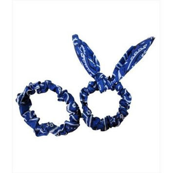 Coveryouhair CoverYourHair 61296 Set Of Two Paisley Scrunchies Royal Blue