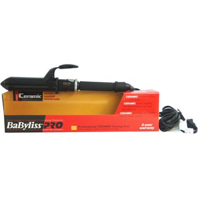 Babyliss PRO Professional Ceramic Curling Iron - Model # BABC125SC - Black by BaBylissPRO for Unisex - 1 1/4 Inch Curling Iron