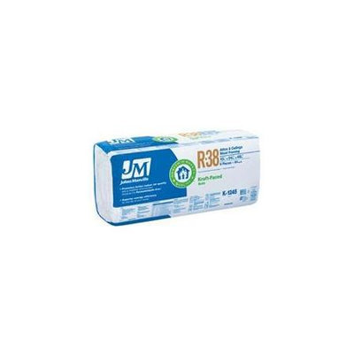 Johns Manville R38 24-in x 48-in Unfaced Fiberglass Batt Insulation with Sound Barrier U366