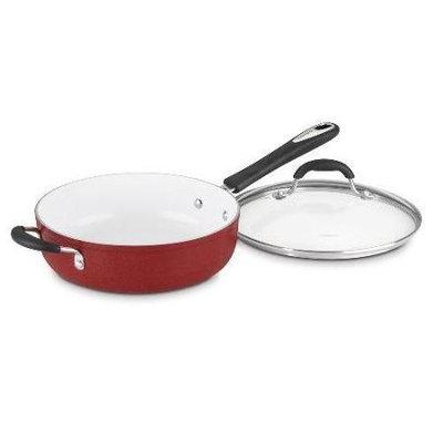 Cuisinart 5.5 Quart Sautà Pan with Helper Handle and Lid, Red