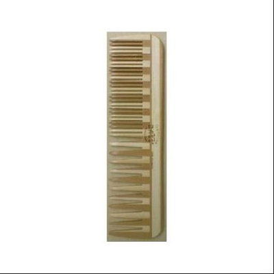Comb - Large Wood Comb Wide Tooth / Fine Tooth Combination Bass Brushes 1 Comb
