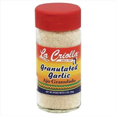 La Criolla 3 oz. Granulated Garlic Case Of 12