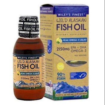 Wild Alaskan Fish Oil Peak Omega 3 Wileys Finest 4.3 oz Liquid