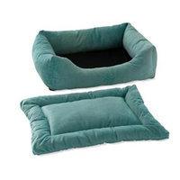 Pet Dreams 2-Piece Plush Sage Bumper Bed X-Large