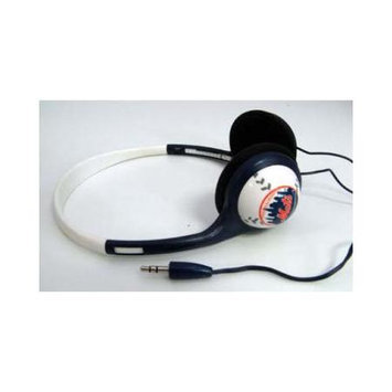 Ihip Digital MLB Logo Baseball New York Mets Style Overhead Headphones