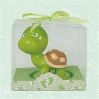 De Yi Enterprise De Yi 11006-GN Turtle Candle Favors - Set of 12
