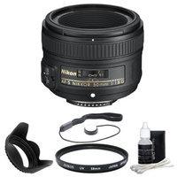 Nikon Nikkor 50mm f/1.8 Fixed Focal Length Lens - 58mm Attachment - 0.15x MagnificationSWM