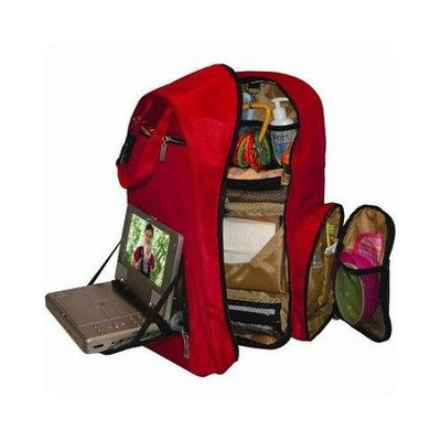 Okkatots Travel Baby Depot Bag/Travel Diaper Backpack in Cranberry Red