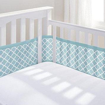 Breathable Baby Quatrefoil Mesh Crib Liner, Lt Green