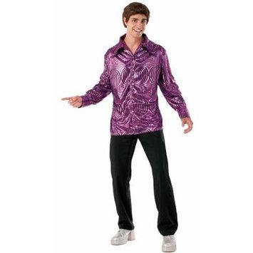 Forum Novelties 70's Disco Dude Adult Costume Shirt Purple Standard