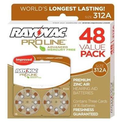 Rayovac Proline Advanced Mercury Free Hearing Aid Batteries size 312