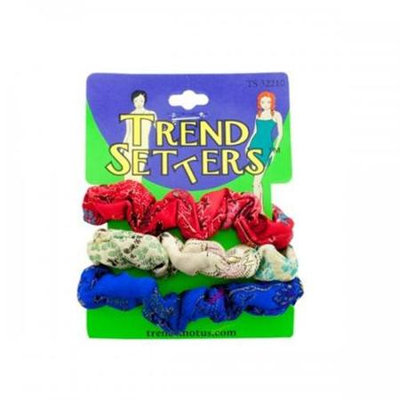 Bulk Buys Asian Fabric Hair Scrunchies Set Pack Of 24