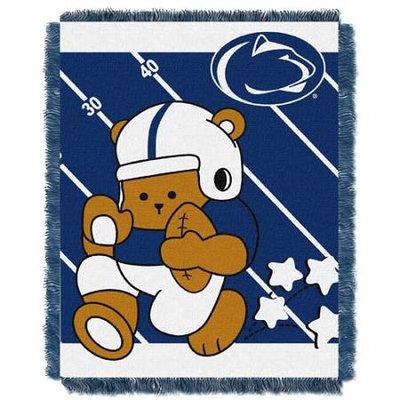 Penn State Nittany Lions NCAA Triple Woven Jacquard Throw (Fullback Baby Series) (36x48)