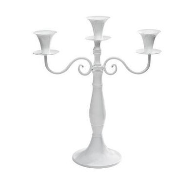 Studio Silversmiths Silver Metal 3 Light Candelabra
