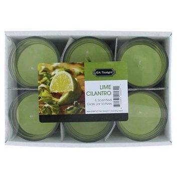 Candle csglc Lime Cilantro 1.5 Oz. Glass Jar Votives Candle 6 Pack