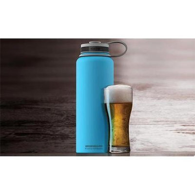 Mighty Flask 40 oz Double Walled Stainless Steel Drinking Container by AdnArt