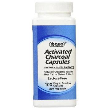 Activated Charcoal Capsules Requa 100 Capsules