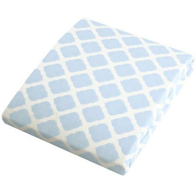 Babies R Us Kushies Change Pad Fitted Sheet - Blue Lattice