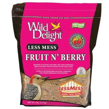 Wild Delight Less Mess Fruit n Berry Wild Bird Food - 5 lb.