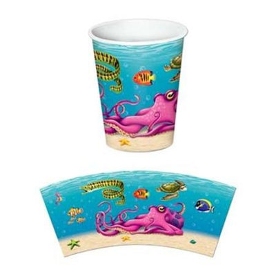 Beistle 58208 9 Ozs Under The Sea Beverage Cups - Pack of 12