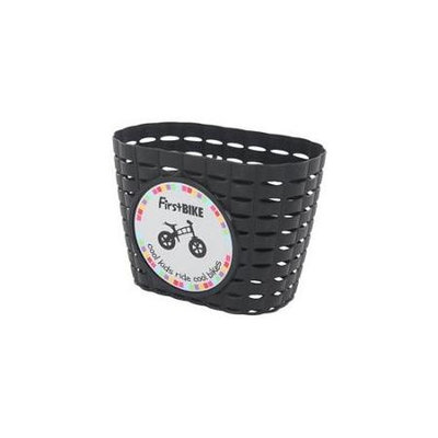 Firstbike Z5003 Attachable Black Basket With Black Straps