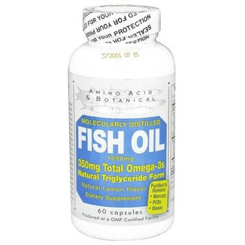 Amino Acid Botanical Amino Acid and Botanical Fish Oil 1090 mg 60 Caps