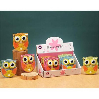Unison Gifts YTD-506X Owl Manicure Set Set Of 12