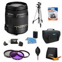 Sigma 18-250mm F3.5-6.3 DC OS HSM Lens for Nikon AF w/ 62mm Filter Lens Kit Bundle