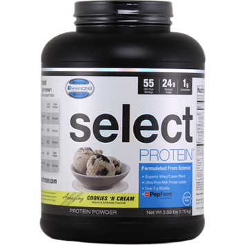 Physique Enhancing Science Select Protein 55 Supplement, Cookies and Cream, 4lb