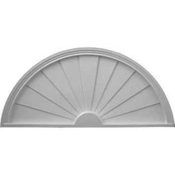 Ekena Millwork PED48X24X02SB 48 In. W X 24 In. H X 2 In. P Architectural accent Half Round Sunburst Pediment