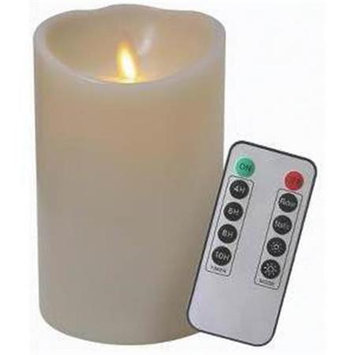 Veraflame E03569A-I Candle Ivory Waxflame Remote 5 in.