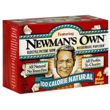 Newman's Own Microwave Popcorn 100 Calorie Natural