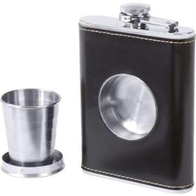 Bnf Maxam 6.8oz Stainless Steel Flask with Built-In Cup