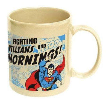 Icup Superman Fighting Villains and Mornings Ceramic Mug