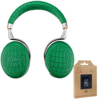 Parrot Zik 3 Wireless Noise Cancelling Bluetooth Headphones (Green) + Battery