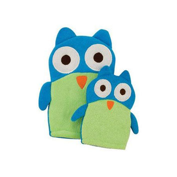 Rich Frog Mom and Mini Wash Mitt and Hand Puppet Set, Owl