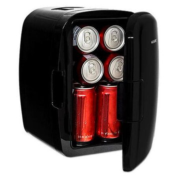Magnasonic Portable 8 Can Mini Fridge Cooler & Warmer, 110V & 12V AC/DC Power (MF50)