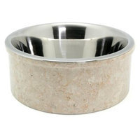 Creative Home Champagne Marble Pet Dish, Size: 3 Quart Bowl