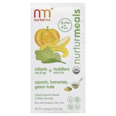 NurturMe Blends Organic Baby Food Squash Banana Kale
