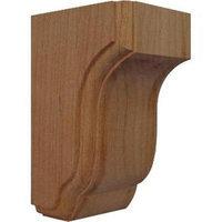 Ekena Millwork 2.5-in x 4.5-in Alder Capistrano Mission Wood Corbel