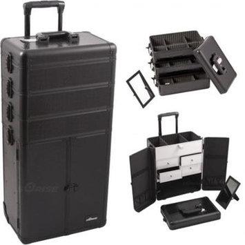 Just Case Sunrise Outdoor Travel Black Crocodile Trolley Makeup Case - I3365