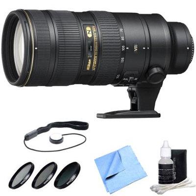 Nikon AF-S NIKKOR 70-200mm f/2.8G ED VR II Lens with Tiffen Twin Filter Pack Bundle