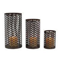 Aspire Home Accents Lambert Chevron Candle Holders