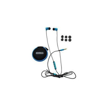 MobileSpec MS52BL Chords Noise Isolating Ear Buds with Mic Blue