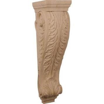 Ekena Millwork 9-in x 34-in Alder Acanthus Wood Corbel